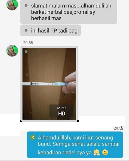 testimoni program hamil holistic produk bee